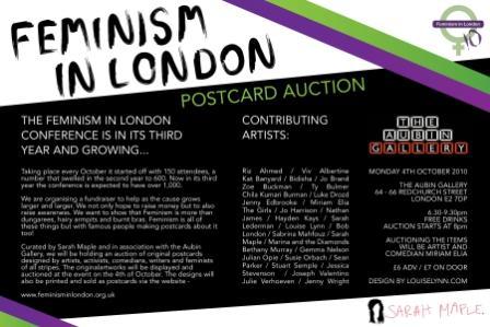 Flyer for the Feminist Art Auction