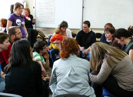 Feminism in London 2010 parenting workshop