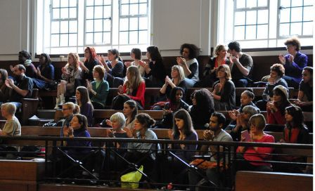 Balcony at Feminism in London 2010