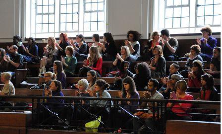 Balcony at Feminism in London 2010
